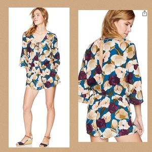 O'Neill Neri Floral Romper Tie Front  Boho…